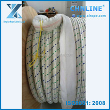 polyester double braided rope Dia 80mm with 1m splice eyes in two ends