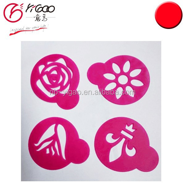 cupcake cake decorating stencils in palstic material