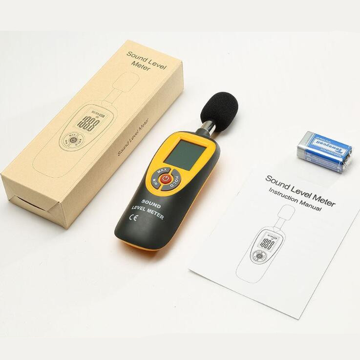 Portable Noise Tester Digital LCD Mini Sound Level Meter 30~130dB Decibel Monitoring Tester noise measurement for office