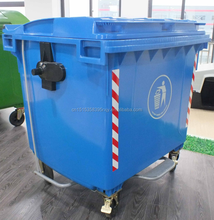 injection molded HDPE plastic waste container, waste bin
