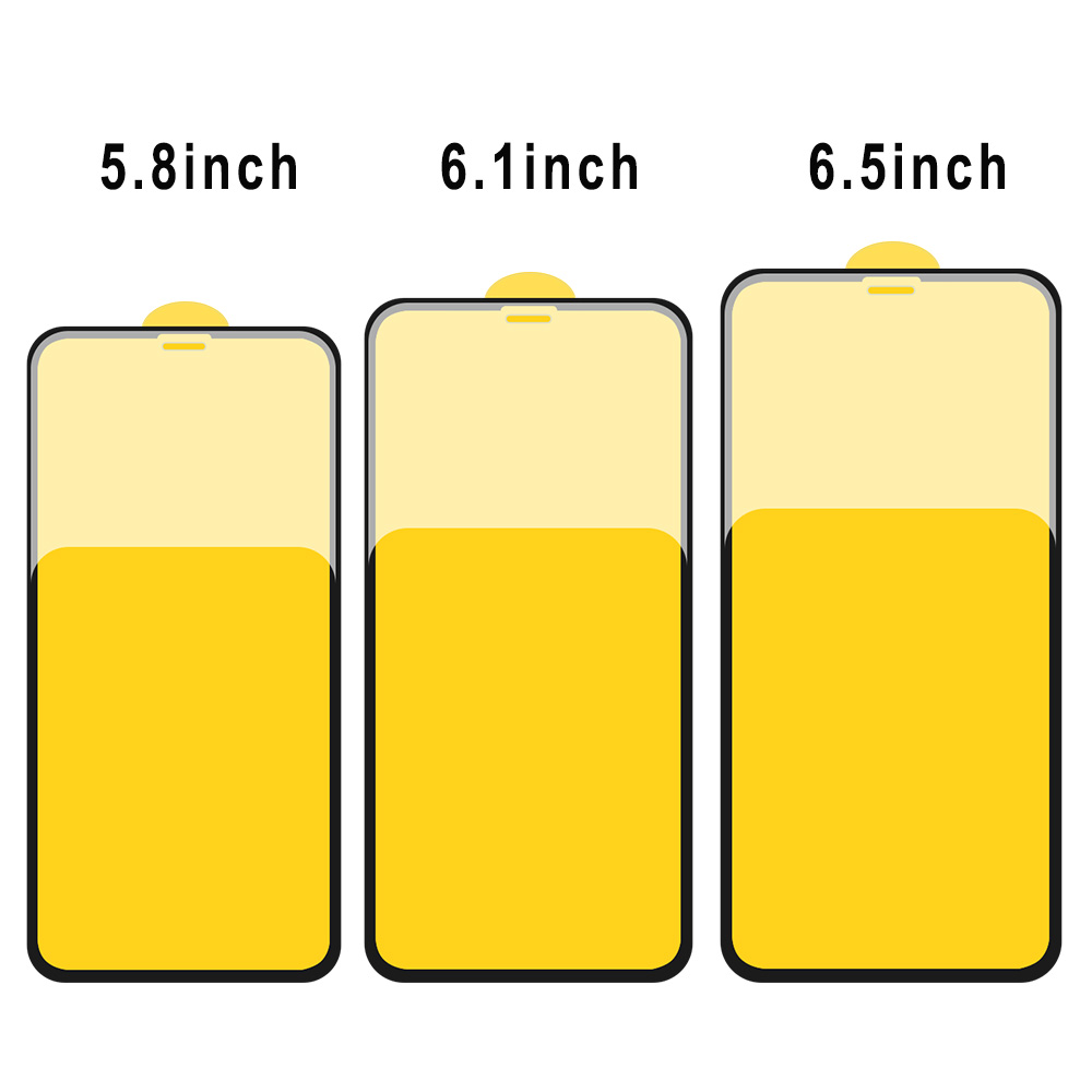 5D Full Cover Tempered Glass Screen Protector for iphone XS XS MAX XR
