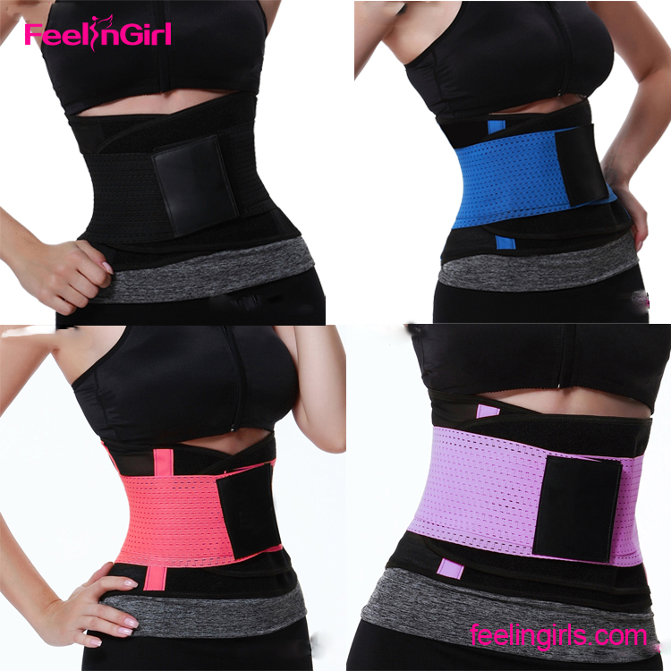 Compression adjustable straps fitness private label waist trainer trimmer belt