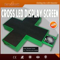 PanaTorch Alibaba hot supplier Led Cross Display Screen IP65 Waterproof P10RG semi-outdoor For medical center