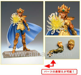 JAPAN ANIMATE BANDAI Saint Seiya Golden Sign of Zodiac Leo Aiolia PVC Figure very rare