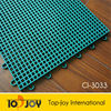 Grid Surface PP Interlocking Sports Flooring For Badminton