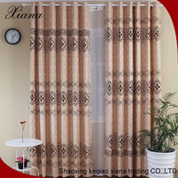 sheer curtain fabric flocking curtain
