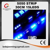 green 5050 smd 30cm 15 LED strip light with 12V for car truck use