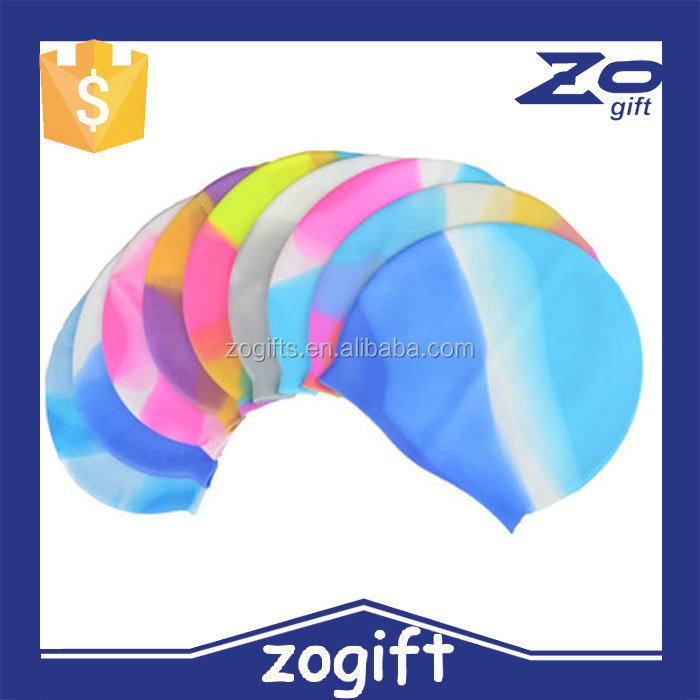 ZOGIFT Wholesale Waterproof Silicone Swim Cap, Water Sports Swimming Cap Silicone