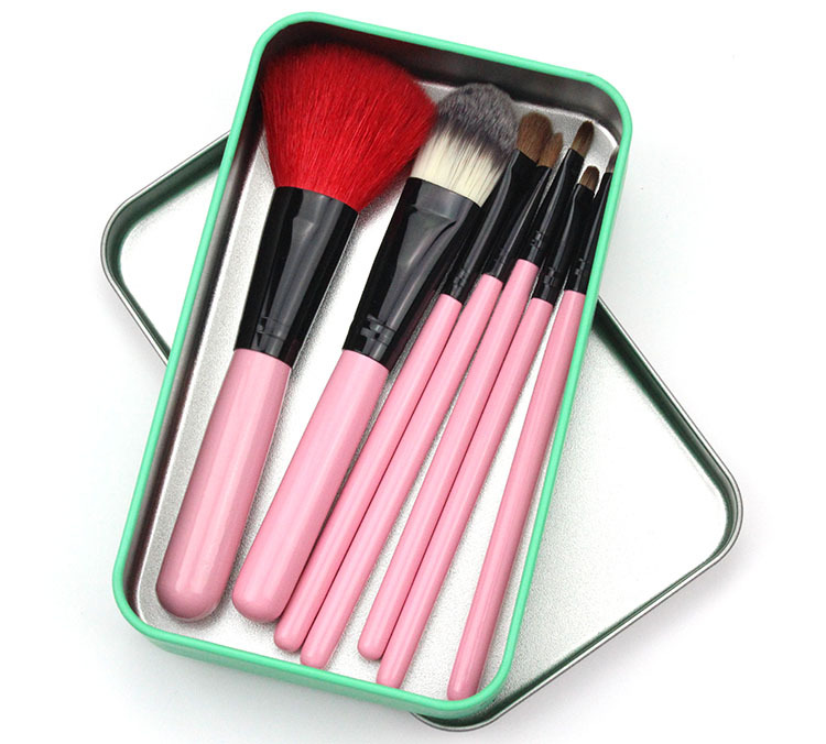 Bona 7pcs/set oem makeup brushes kabuki makeup brush with makeup brush case