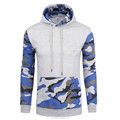 2018 New Fashion Unisex Camouflage Hoodie Suits Fitted Men's Fleece Pullover Hoodie Sweatshirt with Camo Sleeves