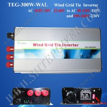 3 phase pure sine wave ac 24v to ac 110v wind grid tie inverter 300w