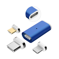 Newest 10 pin Magnetic 3 in 1 converter charging adapter for Android/IOS/Type C with cheap price