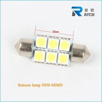 White LED Bulbs 41mm / 42mm Festoon 5050 6-SMD Dome Map Cargo Light 578