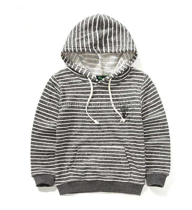 Baby Boys Hoodies Striped Printed 2015 New Baby Boy Coat Hooded Kids Sweater European and American Children's Clothing