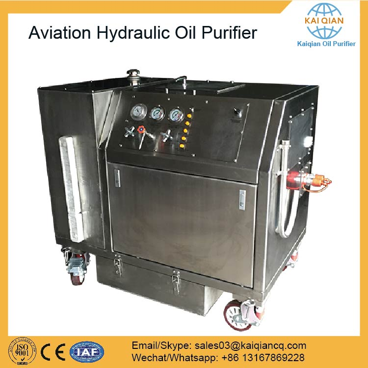 Aviation Hydraulic Oil Cleaning/ Recycling Purifier Machine