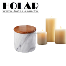 [Holar] 100%Taiwan Made White Elegant Marble Candle Jar with Lid