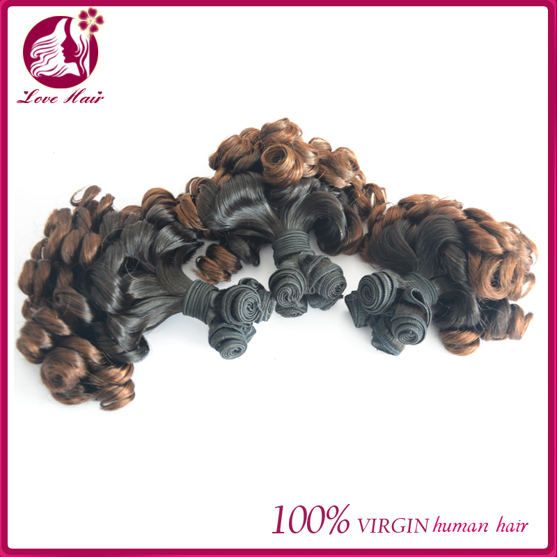 Raw 6A Unprocessed Virgin 8-30inch malaysian Fummi Curly ombre color Hair Weaving For African American Women