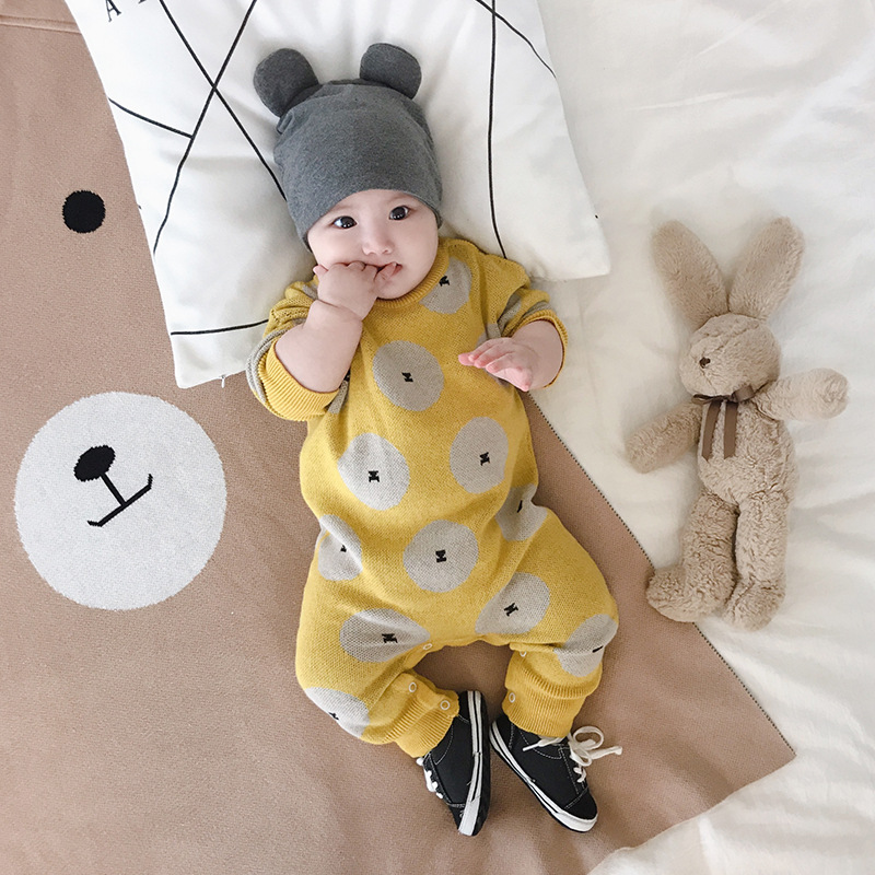 2019 new product long sleeve soft comfortable cotton baby boy rompers of low price