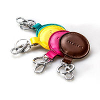 2014 New Fashion Genuine Leather Car Keychain in Factory Price