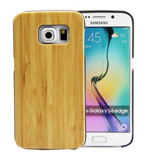 Blank bamboo wooden handphone casing for Samsung galaxy S6 S6 Edge