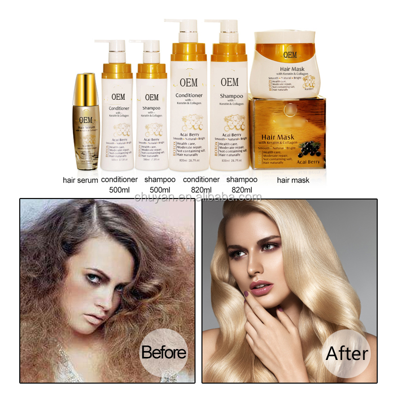 Hair mask with keratin and collagen 1000ml