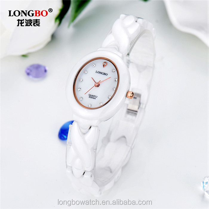 Longbo brand stainless steel case back women fashion hand chronograph watch water resistant high quality watches