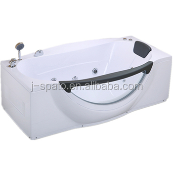 2018 Classic Rectangle One Person Whirlpool Massage Bathtub For JS-8606