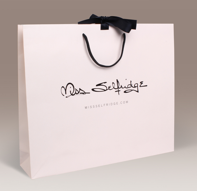 Customized design high end elegant luxury paper bags with handles/paper bags with your own logo
