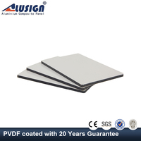 Alusign 4mm aluminum panels roof with outdoor wall covering