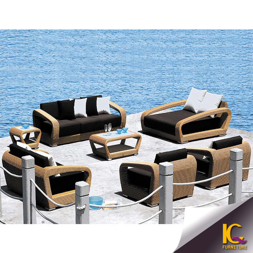 Top China 5 Seater American Style Luxury Rattan Used Outdoor Sofa