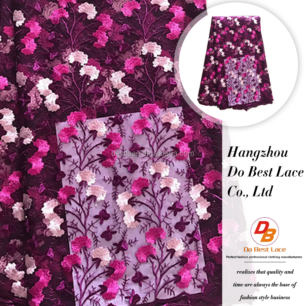 Wholesales fashionable importer embroidered african lace fabrics