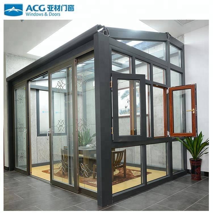 Neue Design Fertighaus Aluminium Gehärtetem Lowes Glas Wintergarten ...