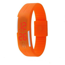 2017 Custom Brand Silicone Bracelet Sport Watches for Men Wrist LED Electronic Led Watch