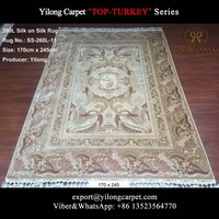 Handknotted 170x245cm ivory popular turkish design persian hand knitted carpet