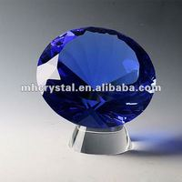 Faux Blue Glass Crystal Diamond MH-9230