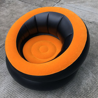 Custom round flocking inflatable lounge chair