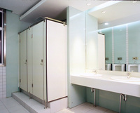 Beautiful easy to clean compact changing room partition