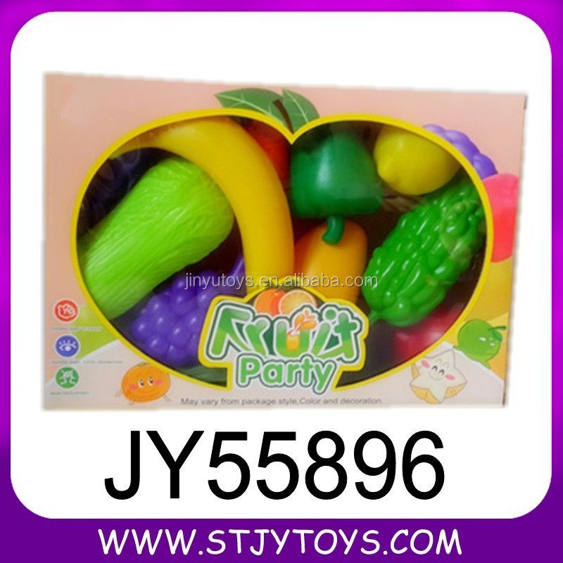Gift box 11pcs plastic toy fruit and vegetable for kids