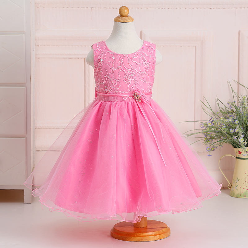 Latest Elegant Organza Kids Party Wear Flower Girls Dresses for Wedding