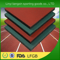 playground recycled rubber with epdm flecks recycled rubber granule 1m*1m rubber mats kindergarten