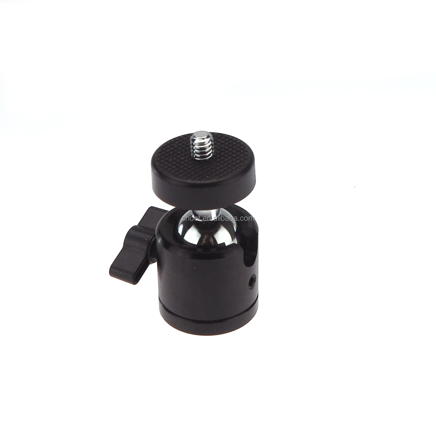 "Hot selling 1/4"" 3/8"" Mini Ball Head Camera Cold Shoe Light Bracket/Holder/Mount"
