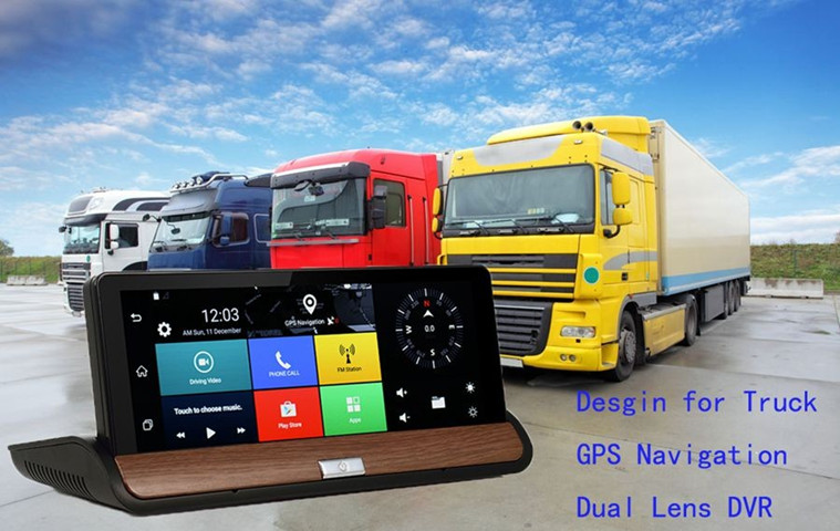 Dual Lens Manual Car Camera HD DVR with Night Vision G-sensor WDR Dashboad GPS Navigation with Bluetooth
