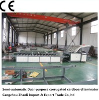 semi-auto Corrugated Cardboard pasting Machine/ fully automatic flute laminating machine
