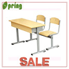 Double school desk and chairs school furniture CT-310