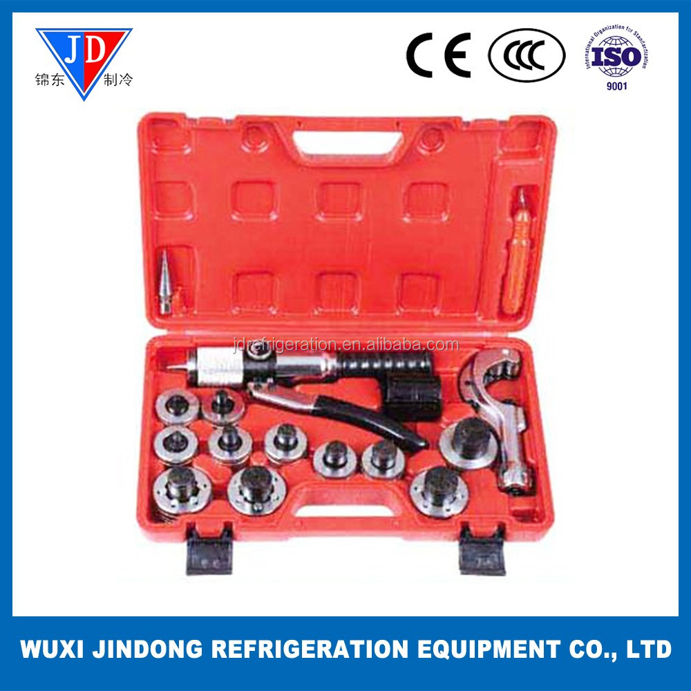Refrigeration tool hydraulic tube expander kit with tube cutter CT-300AL