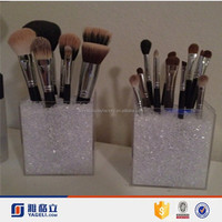 2016 Wholesale Custom Acrylic Makeup Brush Holder / Makeup Brush Acrylic Storage Cube Organizer