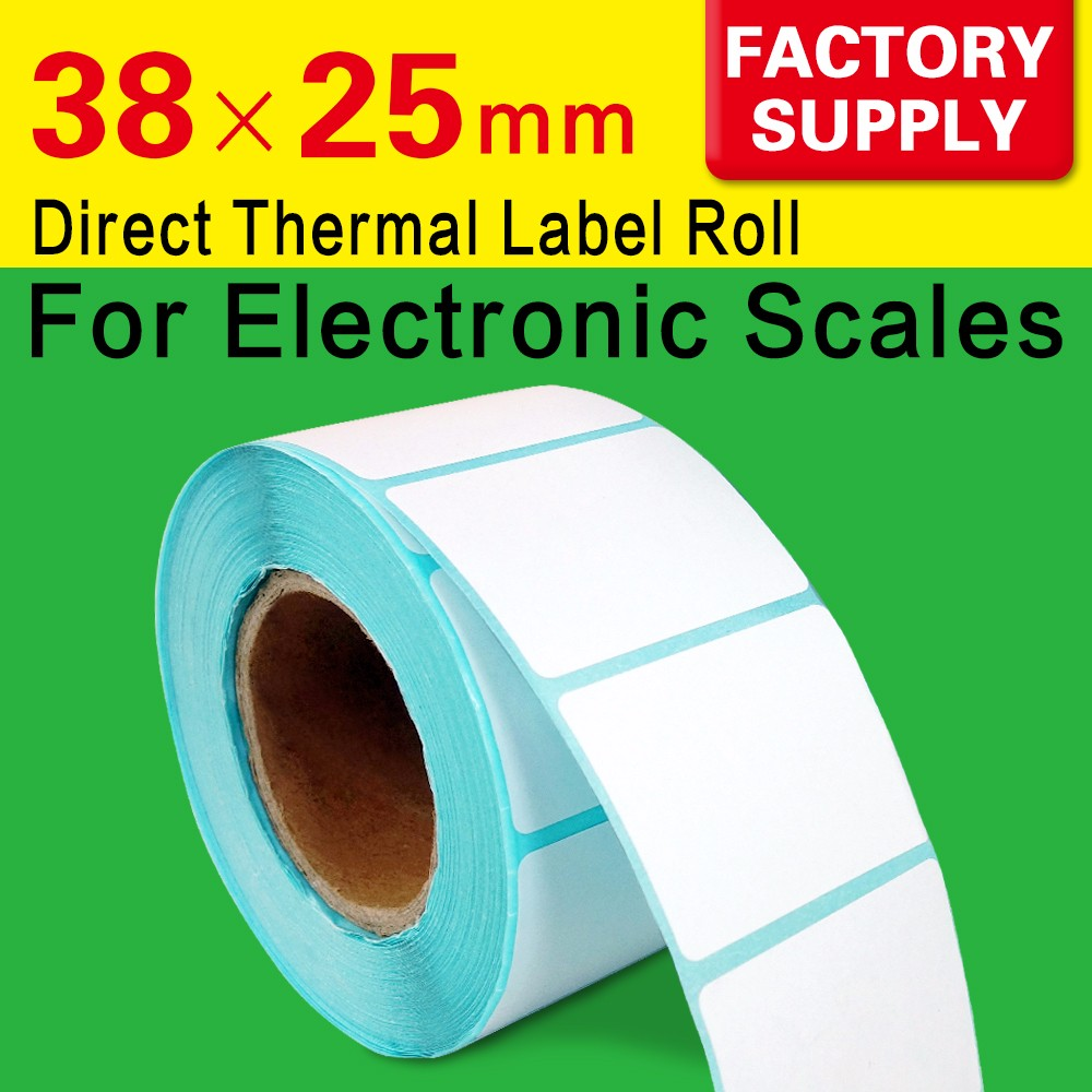 thermal label rolls supermarket weighing scale labels