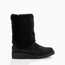W073 New style black leather fur fancy warm snow boots