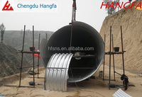 China supplier hot dip galvanized large diameter corrugated steel bellow pipe