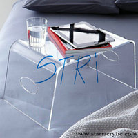 Crystal clear acrylic bed tray Transparent laptop table Lucite Breakfast Tray